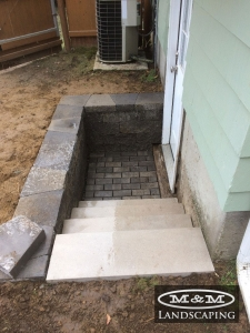 Permeable paver stone installation in Middleton, MA